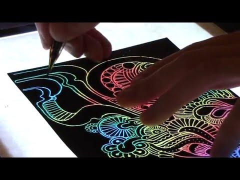 Glow Rainbow Scratch Art