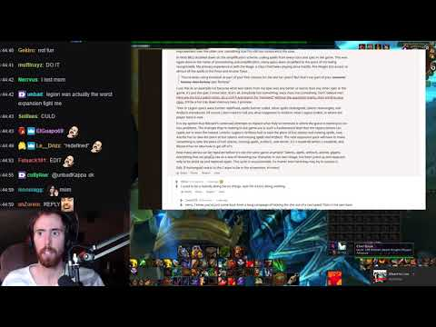 Asmongold Reads A Reddit Post On The Constant Changes In WoW