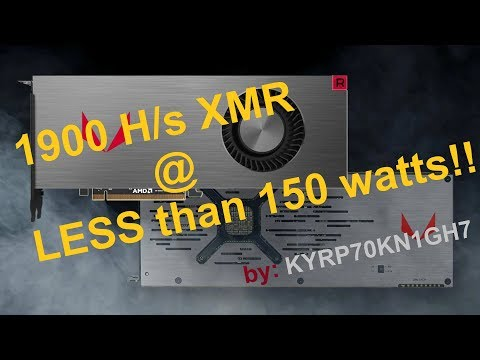 Crypto is King, Ep.2 - XMR (Monero) Optimization Efficiency Rx Vega 64 Mining
