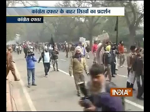 Rahul's 1984 remarks: Sikhs protest outside AICC office in Delhi Part 1