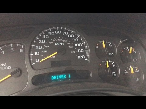 2003 Chevy Suburban How to fix your maxed out dash cluster ...