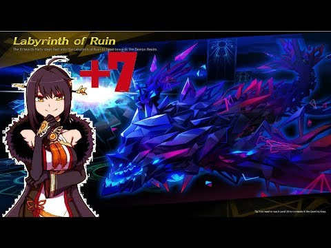 [Elsword NA] T.YR , +7 weapon solo + no items used (12-1 Labyrinth of Ruin)
