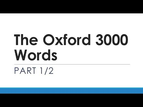 The Oxford 3000 Words Part 1/2 | English Words With Usage Examples