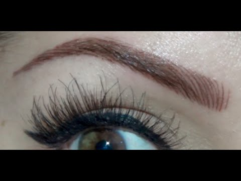 Eyebrow Tattoo | Before & After - YouTube