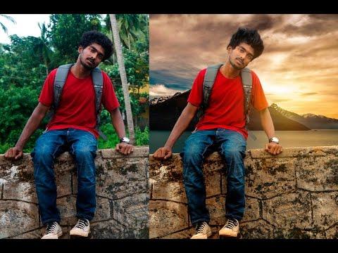 Photoshop Cs6 Advanced Background Changing Tutorial | Photoshop Manipulation & Color Correction