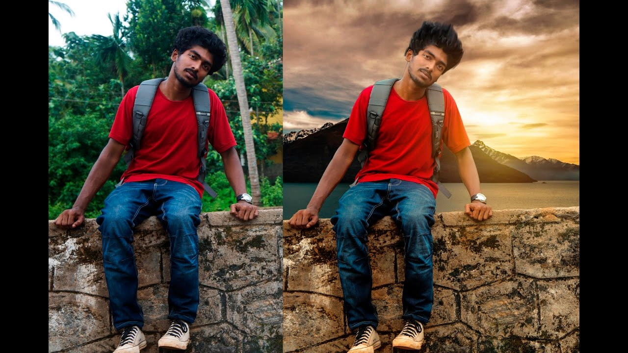 photoshop how to change background color on a photo