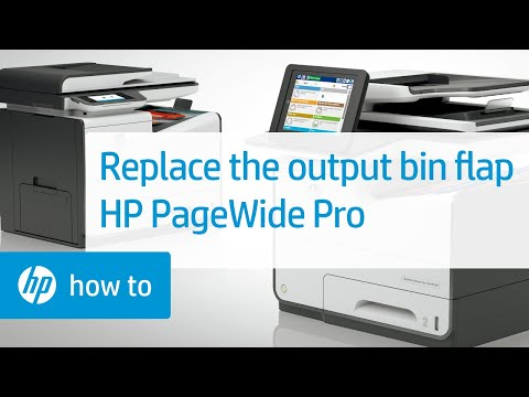 Replacing the Output Bin Flap on HP PageWide Pro Printers