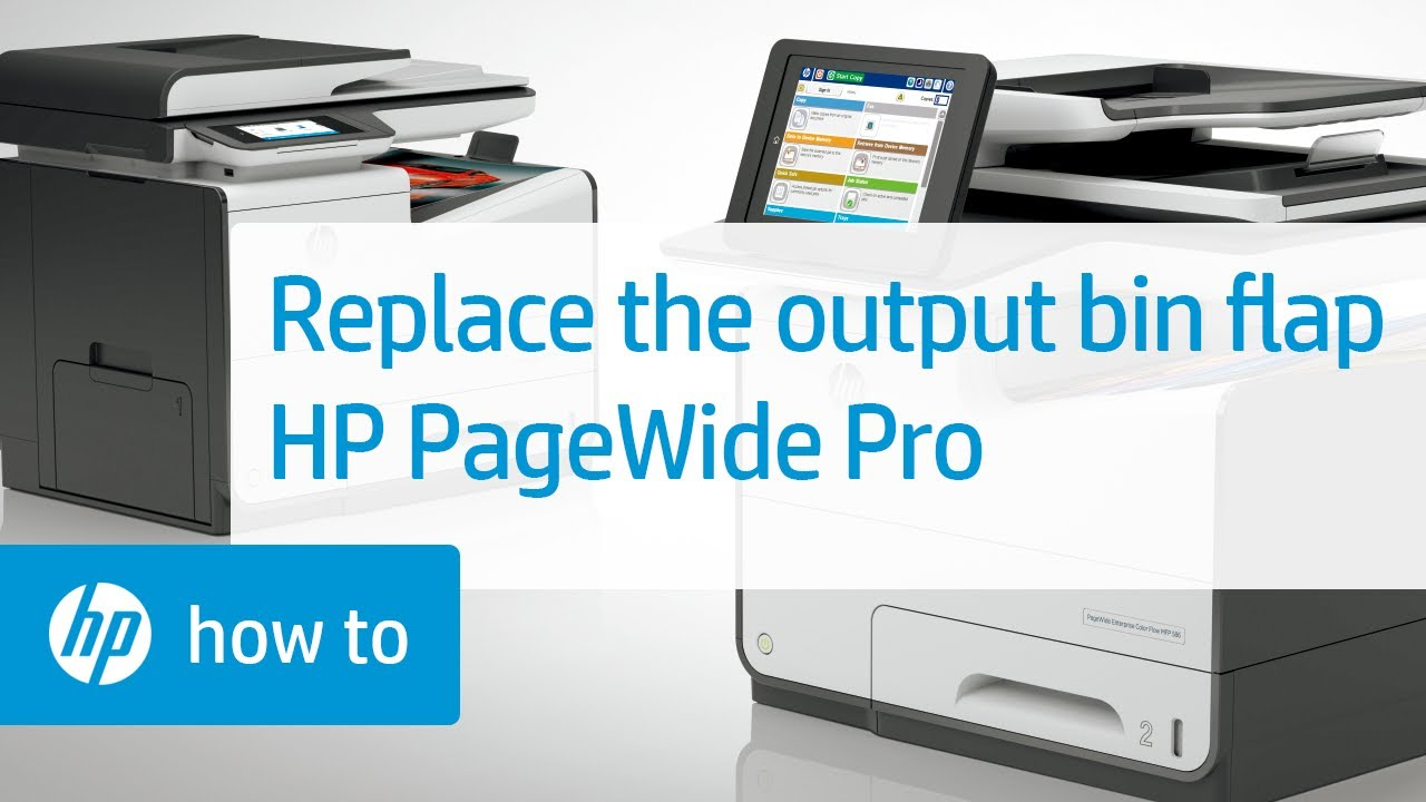 Replacing The Output Bin Flap On Hp Pagewide Pro Printers Pick Up Roller Tray 1 Laserjet P2035 P2055 M401 Hpsupport Hpprinters