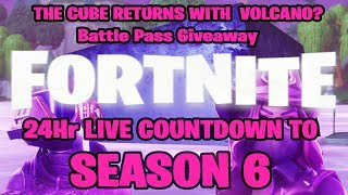 🚨 Fortnite SEASON 6 LIVE COUNTDOWN! Fortnite Battle Royale Free Battle Pass TIERS!
