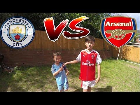 GARDEN FOOTBALL CHALLENGES Man City v Arsenal