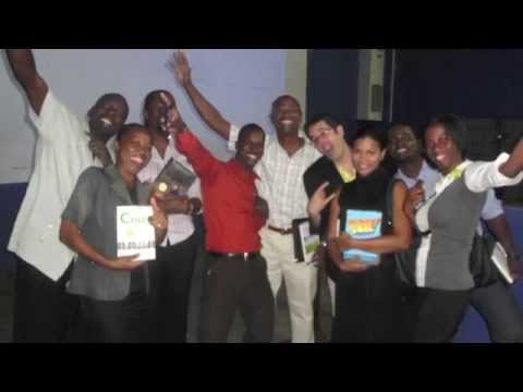 Barry J. Moltz with selected Jamaican entrepreneurs