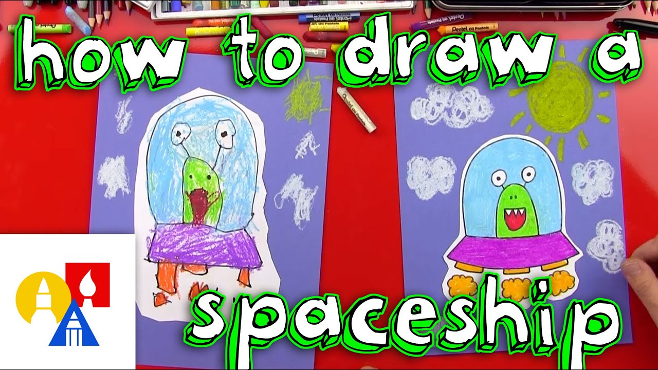 How To Draw An Alien UFO Young Artists