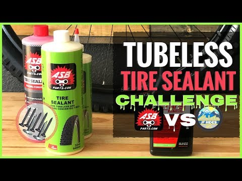 Destroying New Mountain Bike Tubeless Tires Testing ASB Parts Sealant