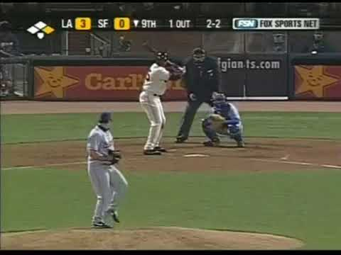Barry Bonds vs. Eric Gagne--4/16/2004 (Full at-bat)