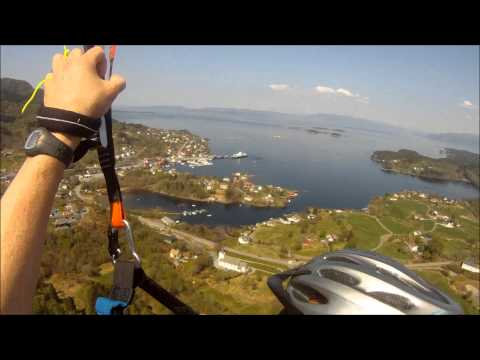 Paragliding over Tysnes