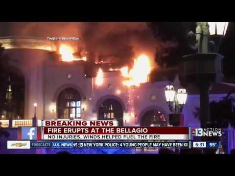 Chopper 13 shows Bellagio fire damage