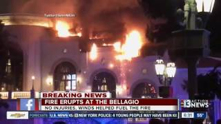 Chopper 13 shows Bellagio fire damage