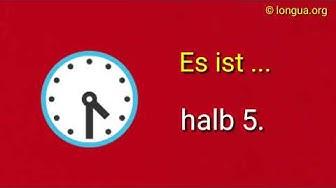 Uhrzeit, Übungen, Wie spät ist es? Wie viel Uhr ist es? What time is it? Es ist 12 Uhr.Es ist halb 4