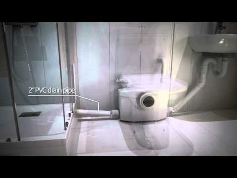 Saniflo macerating unit youtube Bathroom toilet installation