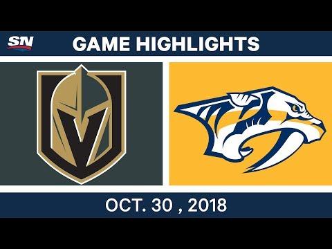 NHL Highlights | Golden Knights vs. Predators - Oct. 30, 2018