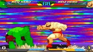 [TAS] Hulk/Armored Spider-man VS Zangief/Mech-Zangief (Marvel Super Heroes VS Street Fighter)