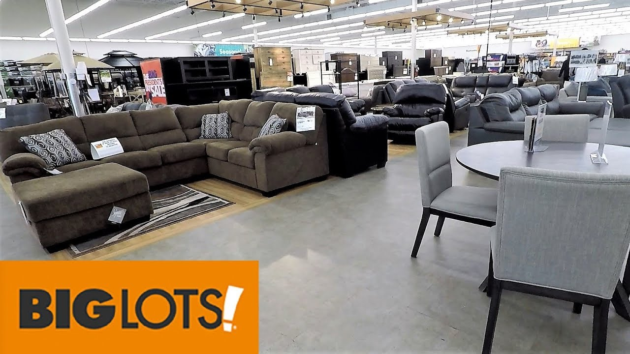 BIG LOTS FURNITURE SOFAS HOME DECOR - SHOP WITH ME SHOPPING STORE WALK  THROUGH 6K