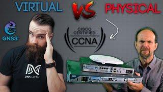 Gambar cover CCNA Lab BATTLE!! // GNS3 vs Physical - ft. Jeremy Cioara