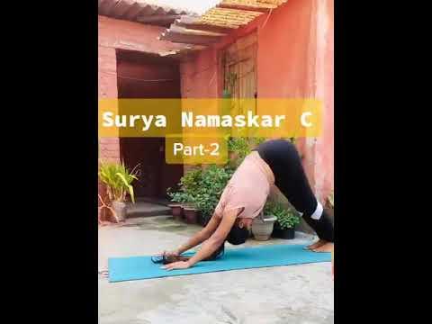 Continue surya Namaskar C Part-2 | motapa kam kare, surya ...