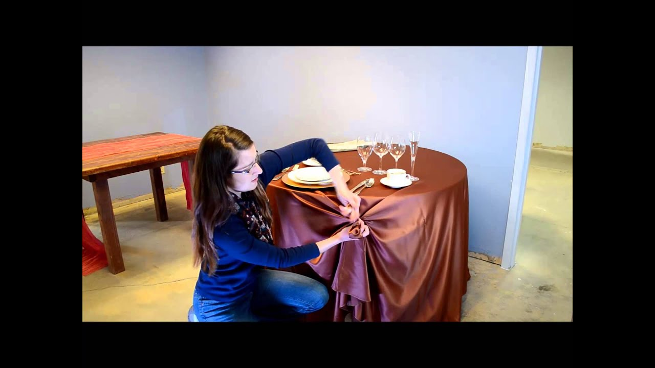How To Swag A Table And Make Rosette