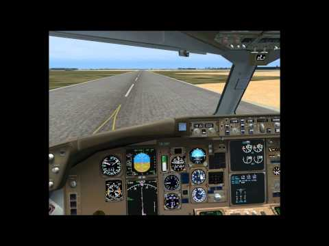 B767 Emirates F1 Landing YBBN .wmv