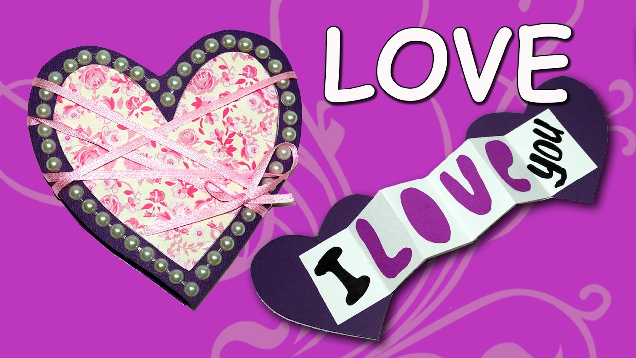 Easy Way to Make Valentines Day Greeting Card DIY Love Heart – Valentines Day Love Cards
