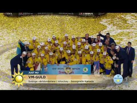 """Sverige tog hem VM-guldet: """"Vilken GLÄDJEYRA!"""" - Nyhetsmorgon (TV4)"""