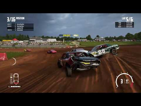 Wreckfest  - bloomfield speedway, 3rd and 2nd, and best lap