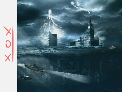 "Photoshop speed art ""WARSAW UNDER WATER"" xox"