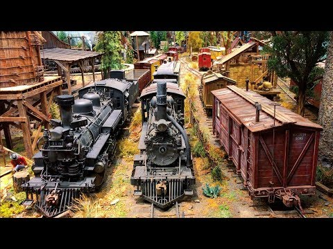 Model Railroad Train Track Plans -Super Large Stunning Scale Model Railroad layout 4K UHD Suncoast center for Fine Scale Modeling