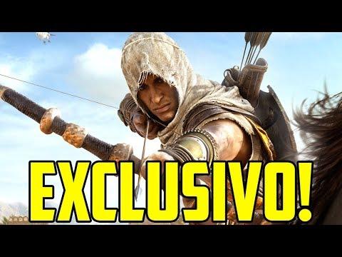 GAMEPLAY EXCLUSIVO DE AC ORIGINS DIRETO DA UBISOFT!