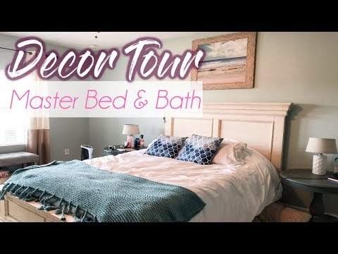 MASTER BED AND BATHROOM TOUR// HOME DECOR TOUR/Heather McCarthy thumbnail