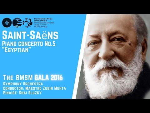 "Saint-Saëns - Piano concerto No.5 - ""Egyptian"" - Shai Sluzki - Zubin Mehta"