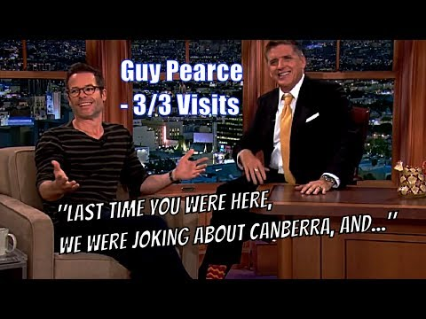 Guy Pearce  The Time Guy & Craig Made Australia Mad  33 Visits In Chron. Order