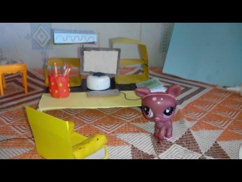 видео: Мой diy: Как сделать компьютерный стол, компьютер,  кресло для lps