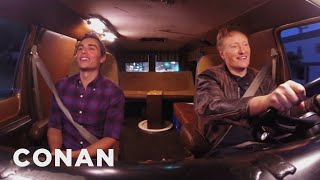CONAN Highlight: Conan & Dave are on a mission to meet beautiful women, with the help of the dating app Tinder and a sweet set of wheels. Watch OUTTAKES ...