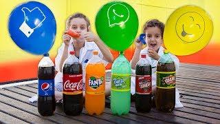 PAULINHO CIENTISTA e os Balões Infantil c/ COCA COLA e  MENTOS - Experiencias para Crianças
