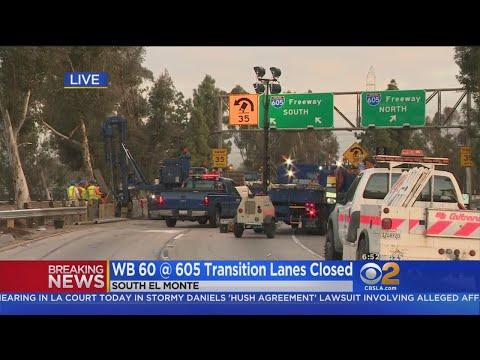 Driver Killed In Big Rig Wreck On 60 Freeway Near South El Monte