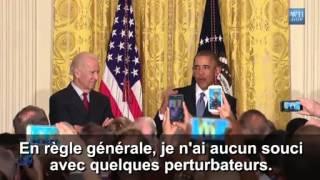 """Barack Obama recadre une militante à la Maison Blanche : """"Vous êtes chez moi"""""""