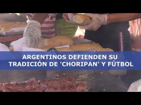 Los argentinos protestan contra la prohibición de venta de 'choripán' ante los estadios