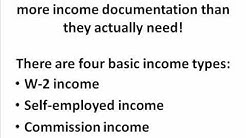 Mortgage Income Documentation