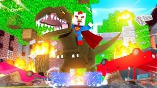 SUPER CHICKEN TALES 24  T-Rex Attacks City Minecraft Movie