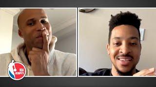 CJ McCollum and Richard Jefferson brainstorm scenarios for the NBA's return | NBA on ESPN