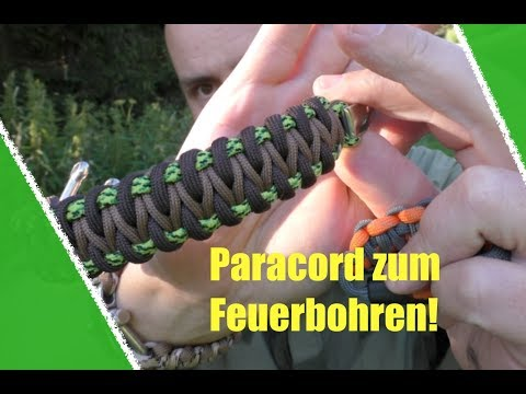 Paracord Armband zum Feuerbohren und Survival