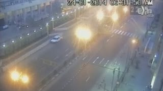 Bomb blast on CCTV: Explosion at Cairo security HQ captured on camera